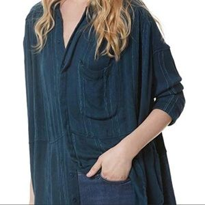 NWT Free People Harbour Oversized Blouse Small